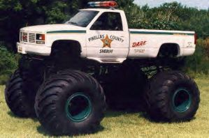 Monster truck police 4x4 by djslam
