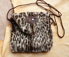 Leopard cat pouch with bobcat claw by lupagreenwolf