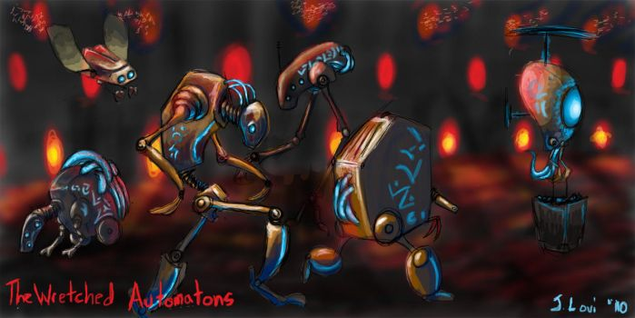 The Wretched Automatons by FlameFoxe