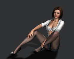 Amanda Jones Pinup 1 by Torqual3D