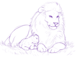 The Lamb and the Lion sketch by MelvisMD