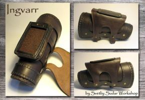 Leather Bracer Case Ingvarr by Svetliy-Sudar