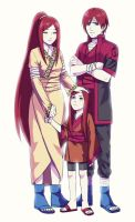 Kushina and her parents by DaiKai