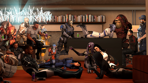 One Last Party (Mass Effect 3) by toxioneer