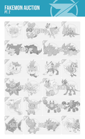 Fakemon Auction Pt. 2 (ENDED) by zerudez