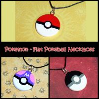 Pokemon - Flat Pokeball Charms by YellerCrakka