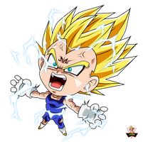 Majin Vegeta Toon by lucario-strike