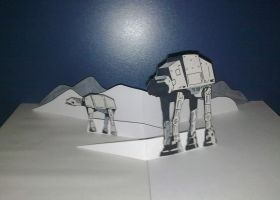 Star Wars Hoth Scene Pop Up by WillziakDS
