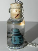 Dalek, Dr.Who, Miniature Dalek in a Bottle Necklac by Secretvixen