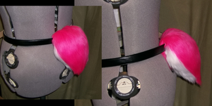 Hot pink bunny tail for sale by AcrotomicStudios