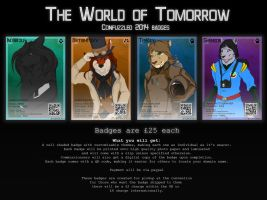 ConFuzzled 2014 Badges - Open! by IndiWolfOnline