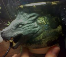 Wolf head pot by Raiden1313