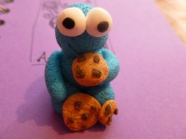 Fimo Cookie Monster by MadameMalaki