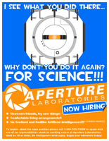 Aperture Labs - Now Hiring by TehCadre