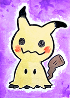 Mimikyu aceo card by Mellymiew