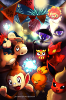 Pokemon : Fire Festival by MayaIdanan