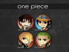 One Piece buttons by anikakinka