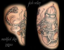 Bender from Futurama by ModifiedSkinTattoos