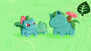 Bulbasaur Family by ZoCoDarky
