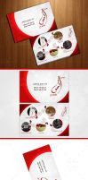 wedding planner business card and logo by ahdaiba