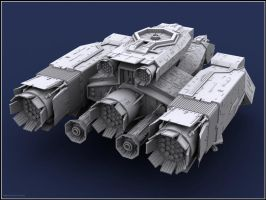 NOSTROMO 3D Studio Model view2 by proteus6007