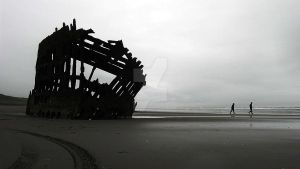 The Wreck of the Peter Iredale by SilverwolvesForever
