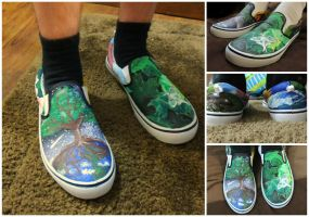 Earth Day shoes 2 by songbirdholly