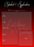 Bloodwing Academy Student Application by GlitchedDedenne