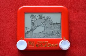 Psyduck Etch A Sketch by pikajane