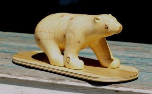 Hand Carved Polar Bear by FTSArts