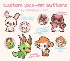 Custom lock-pin buttons!