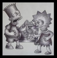Bart and Lisa by Rosemary-T