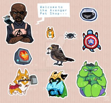 Avenger Pet Shop Sticker by Pikatoro