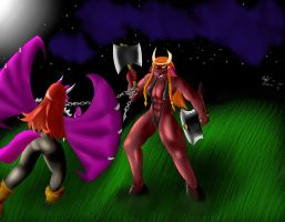 Brellina vs Lilith by 666Alan666
