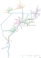 Transit map of eastern North America by embolalia