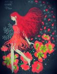 Carefree Holiday: Akamira Fairy in Scarlet Descent by eirol87