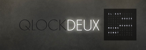 Qlockdeux 1.0 by pyerbass