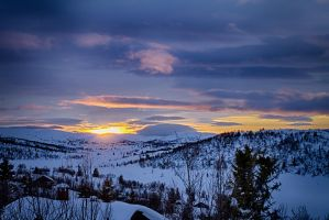 Valdres sunset by scwl