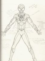 Spider-man Redesign by FreeFalling101