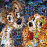 Lady and the Tramp Mosaic by Cornejo-Sanchez