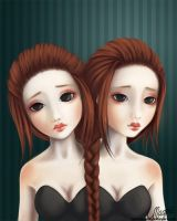 Siamese Twins by LaurenMagpie