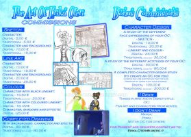 - Commissions price list - by PencilTree