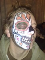Sugar skull Practice 1 by planetdebs