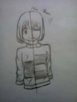 Frisk/Chara by Hiume-Chan