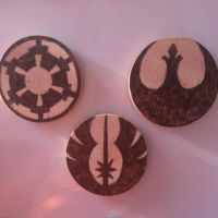 Woodburned star wars magnets by chui92
