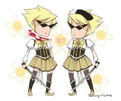 Dirk Dressed as Mami x2 by TheLanguidClown