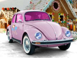 Volkswagen-Beetle Pinkie Edition by HumblrPI