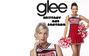 Brittany and Santana Wallpaper by vbneon