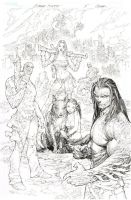 Cyber Force 5 work in progress cover by TopCowOfficial