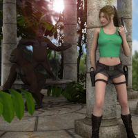 Lara- Gorilla warfare by RetroDevil